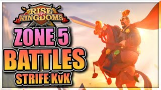 Garrison META - Zone 5 Battle in Rise of Kingdoms [Strife of Eight KvK pt 3]