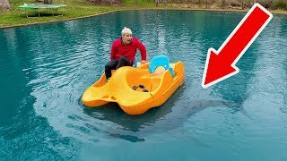 RIVER MONSTER IN POND!! (CAUGHT ON CAMERA)
