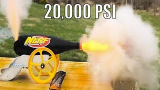 World's Fastest NERF Dart Cannon