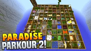 Minecraft PARADISE PARKOUR 2! (Over 100 Stages & Hour Long Parkour Map!) w/PrestonPlayz & Vikkstar