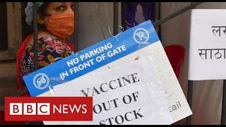 "India ""running out of vaccines"" as Covid crisis deepens - BBC News"