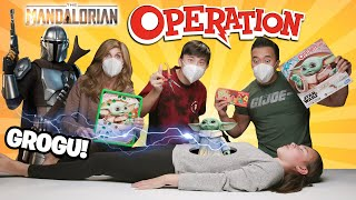 BABY YODA OPERATION!!! Grogu Gets Surgery! EXTREME HOT Bean Boozled Mandalorian Family Game Night!