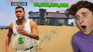 Robbing A MEGA Mansion In GTA 5.. (Mods)