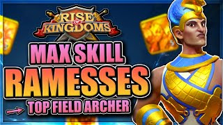 Expertised Ramesses in Rise of Kingdoms [Best open field archer?]