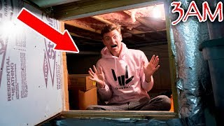 3AM CHALLENGE IN HAUNTED SECRET ROOM!!