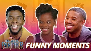 Black Panther Cast - Best Funniest Moments (Try Not To Laugh)