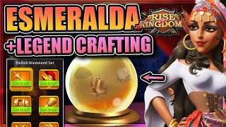 Legendary Crafting + Esmeralda in Rise of Kingdoms [Please special talents...]