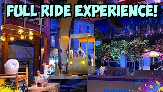 Full queue and Ride Experience- Secret Life of Pets OFF The Leash! New Universal Studios Hollywood