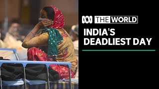 "India suffering ""a humanitarian crisis"" as more than 3,000 die in 24 hours from COVID-19 