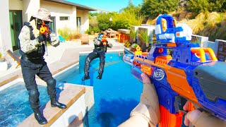 Nerf War: HUGE Mansion Battle 2