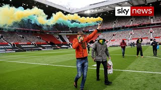 Manchester United fans break into Old Trafford to protest owners