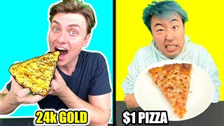 $1 PIZZA VS 24K GOLD PIZZA!!
