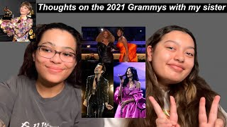 Thoughts on the 2021 Grammys with my sister