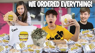 WE ORDERED EVERY ITEM from MR. BEAST BURGER!!! And got...SCAMMED!